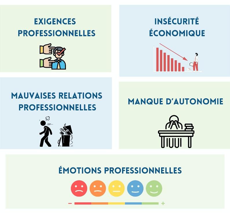 principaux facteurs de risques psychosociaux en image